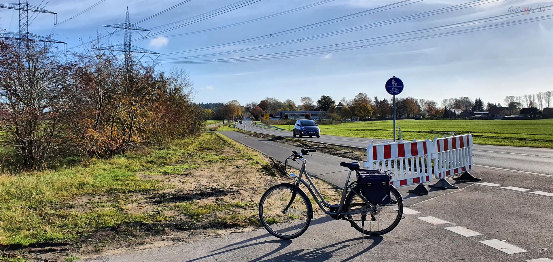 Neuer Radweg Richtung Anklam
