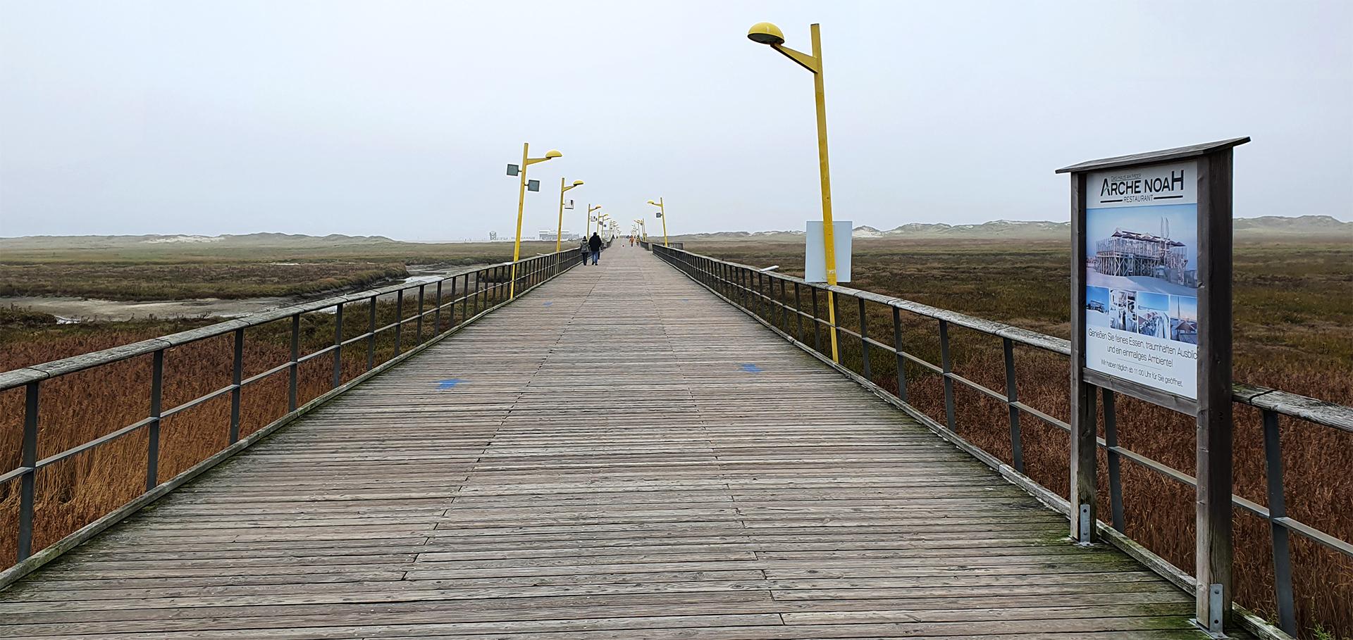 Nordseestrand von St. Peter-Ording im Herbst