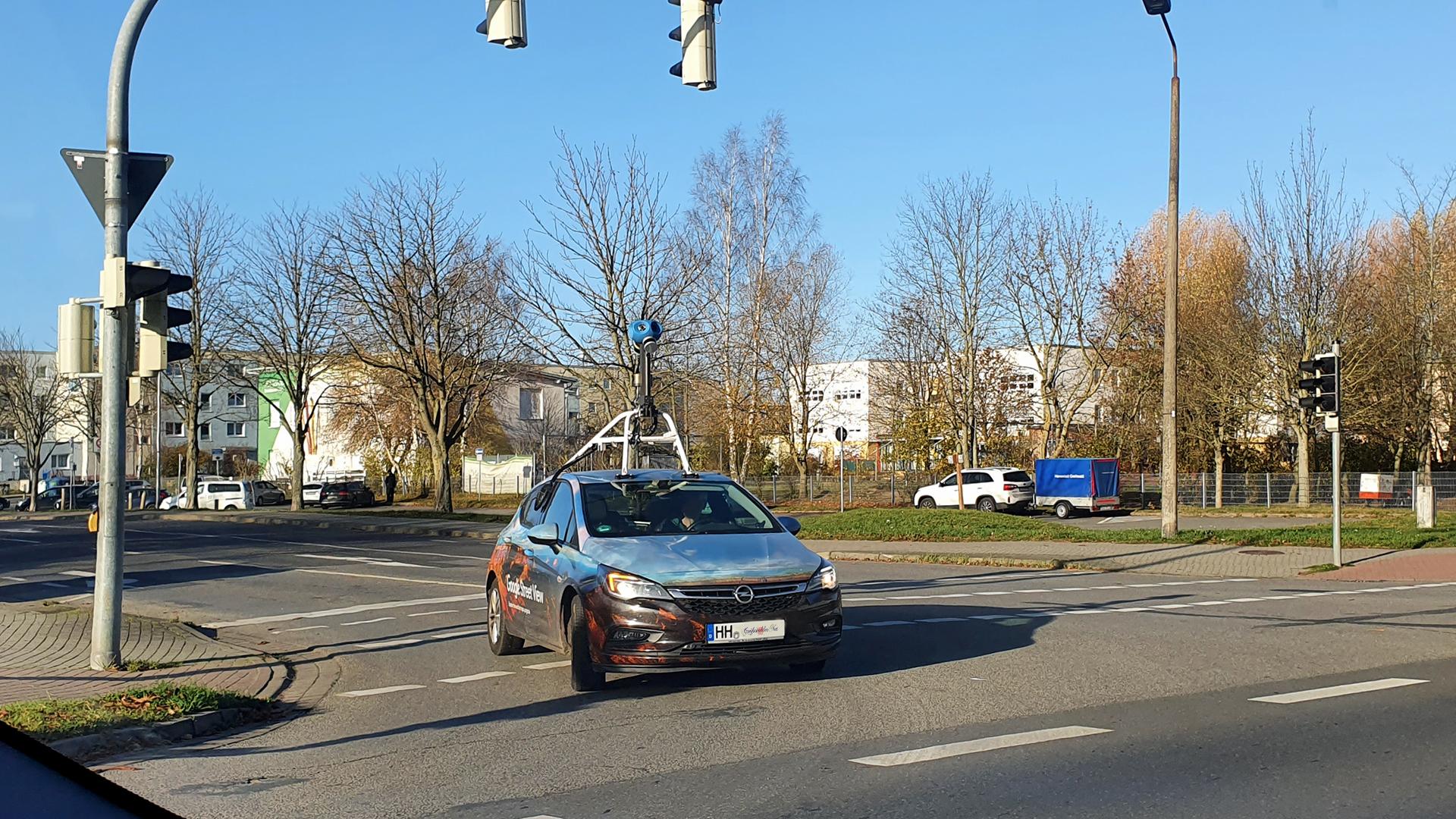 Google Street View Auto in Greifswald unterwegs