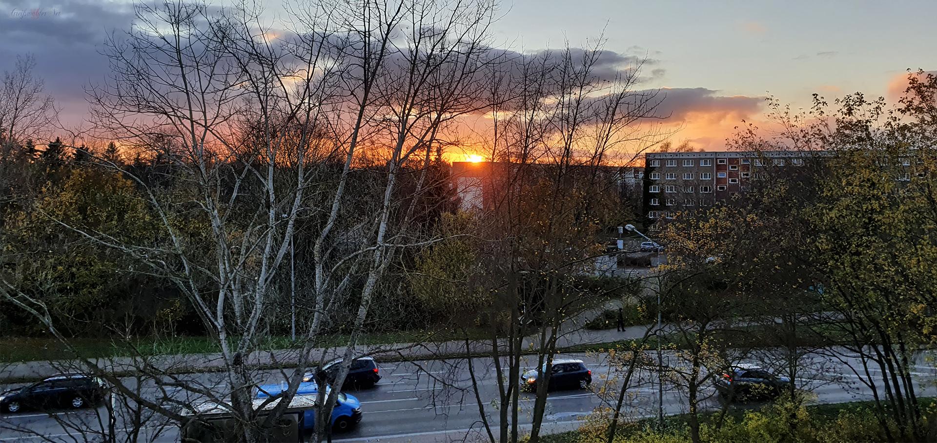 Sonnenuntergang in Greifswald
