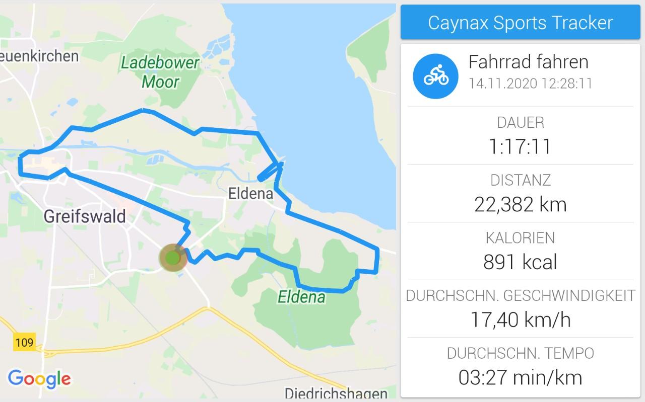 Fahrradtour am Samstagnachmittag