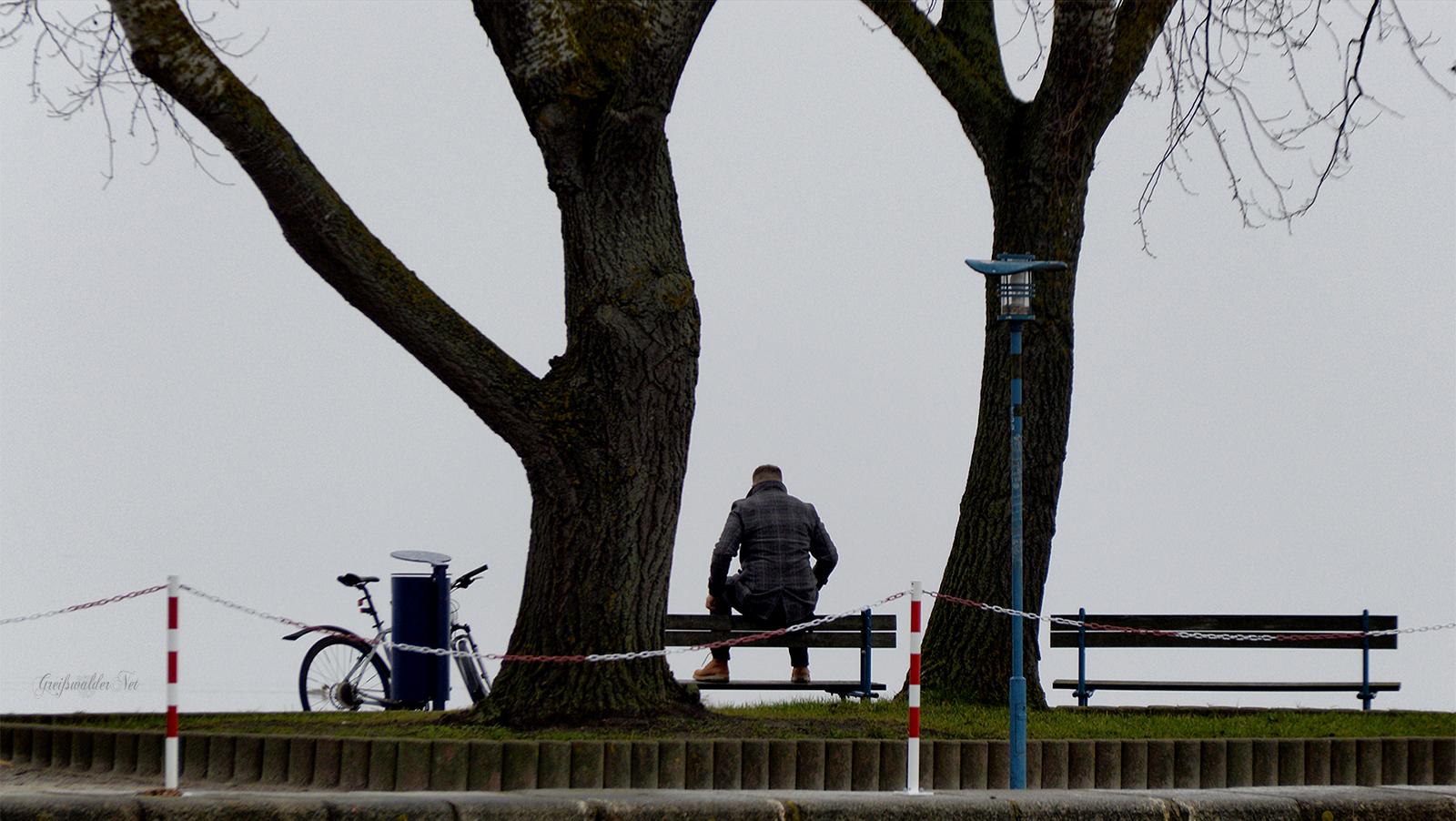 Pause an der Dänischen Wiek in Greifswald-Wieck