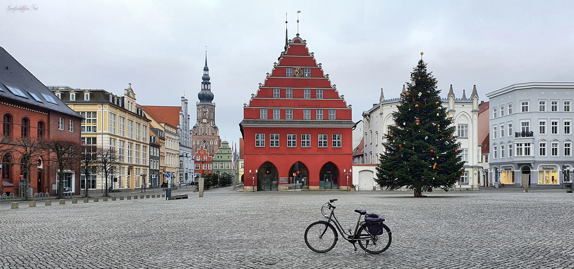 Neujahr auf dem Marktplatz in Greifswald