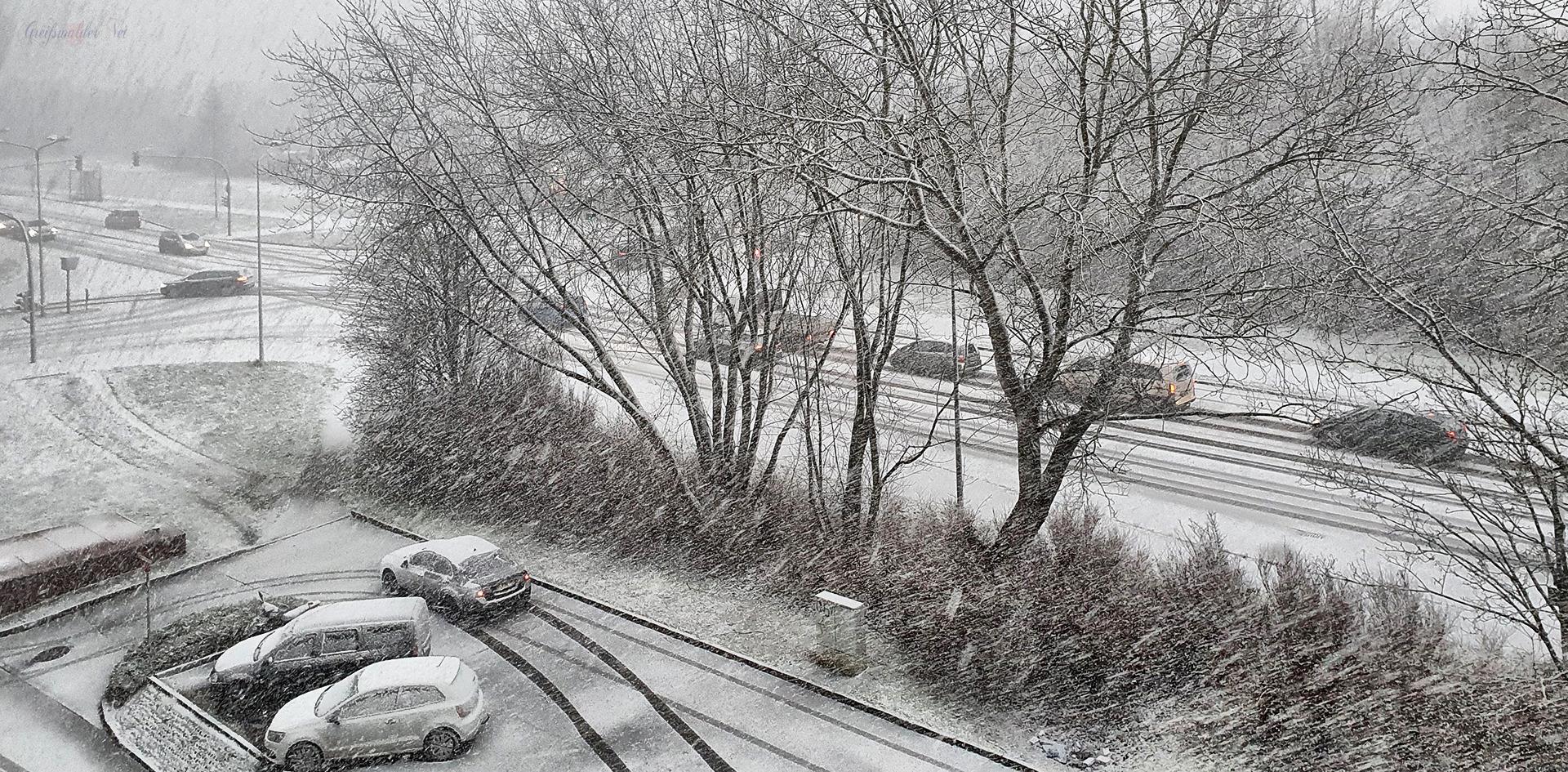 Schnee in Greifswald