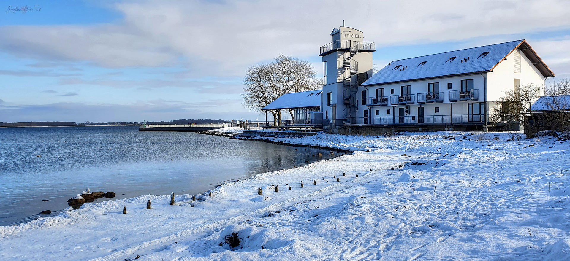 Winter am Utkiek in Greifswald-Wieck