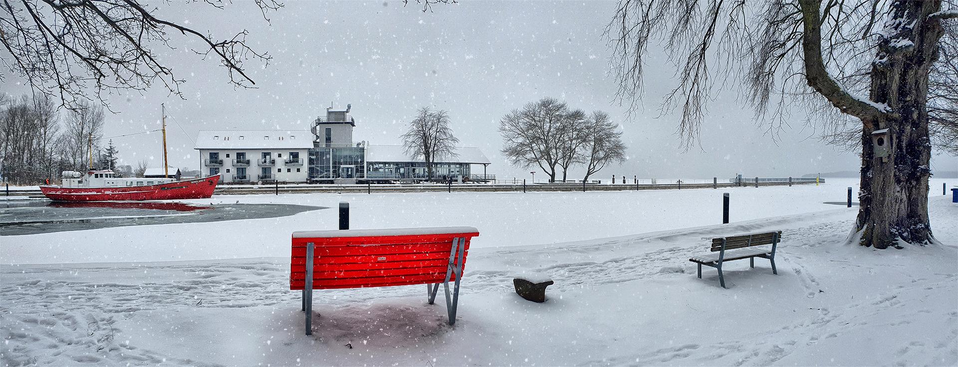 Greifswald-Wieck eingeschneit